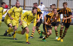 New Tadcaster Albion defender Andy Milne in action for Scarborough Athletic last summer