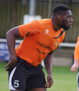 Tyrone Gay scored Brighouse Town's dramatic last minute equaliser at Kendal Town