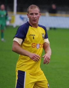 Midfielder Tom Claisse made his first start for his new club Tadcaster Albion